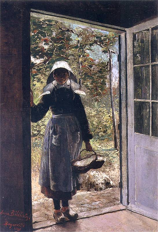 Breton Woman on the Threshold