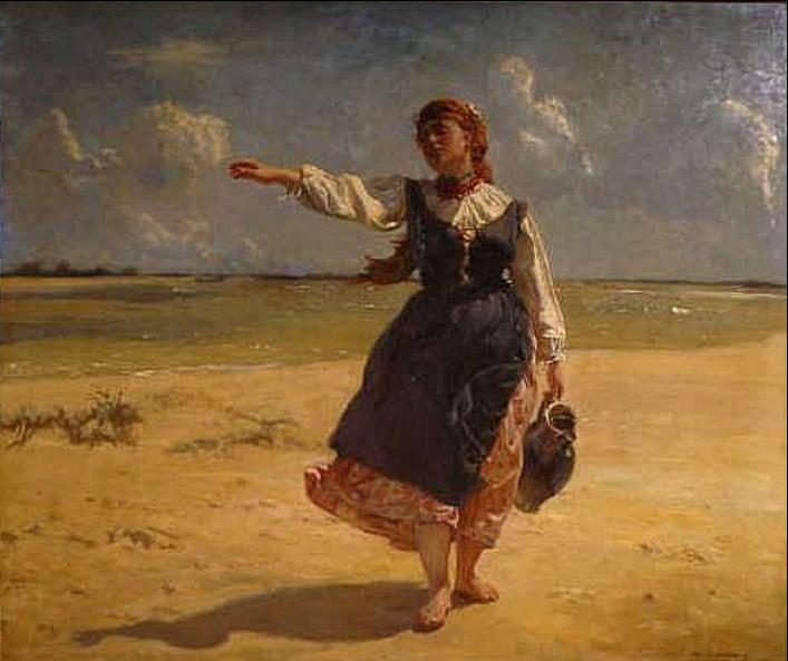 Peasant Girl with a Jug