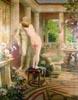 Scena z Quo Vadis-Eunika przed posągiem Petroniusza