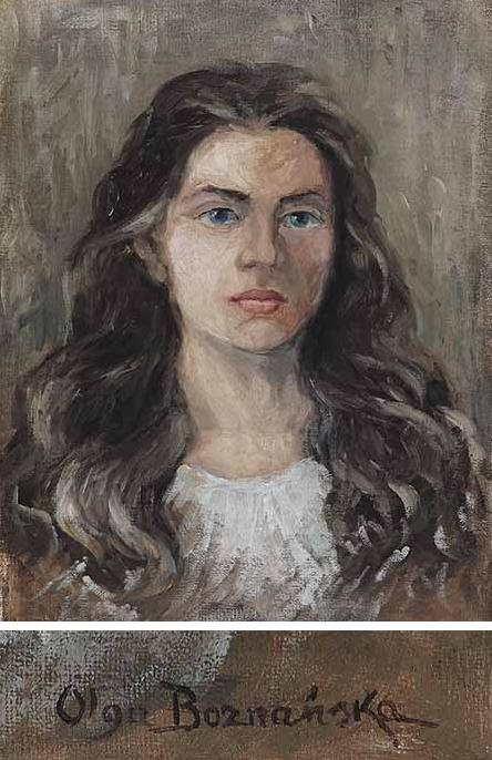 Portrait Of A Girl With Brown Curly Hair