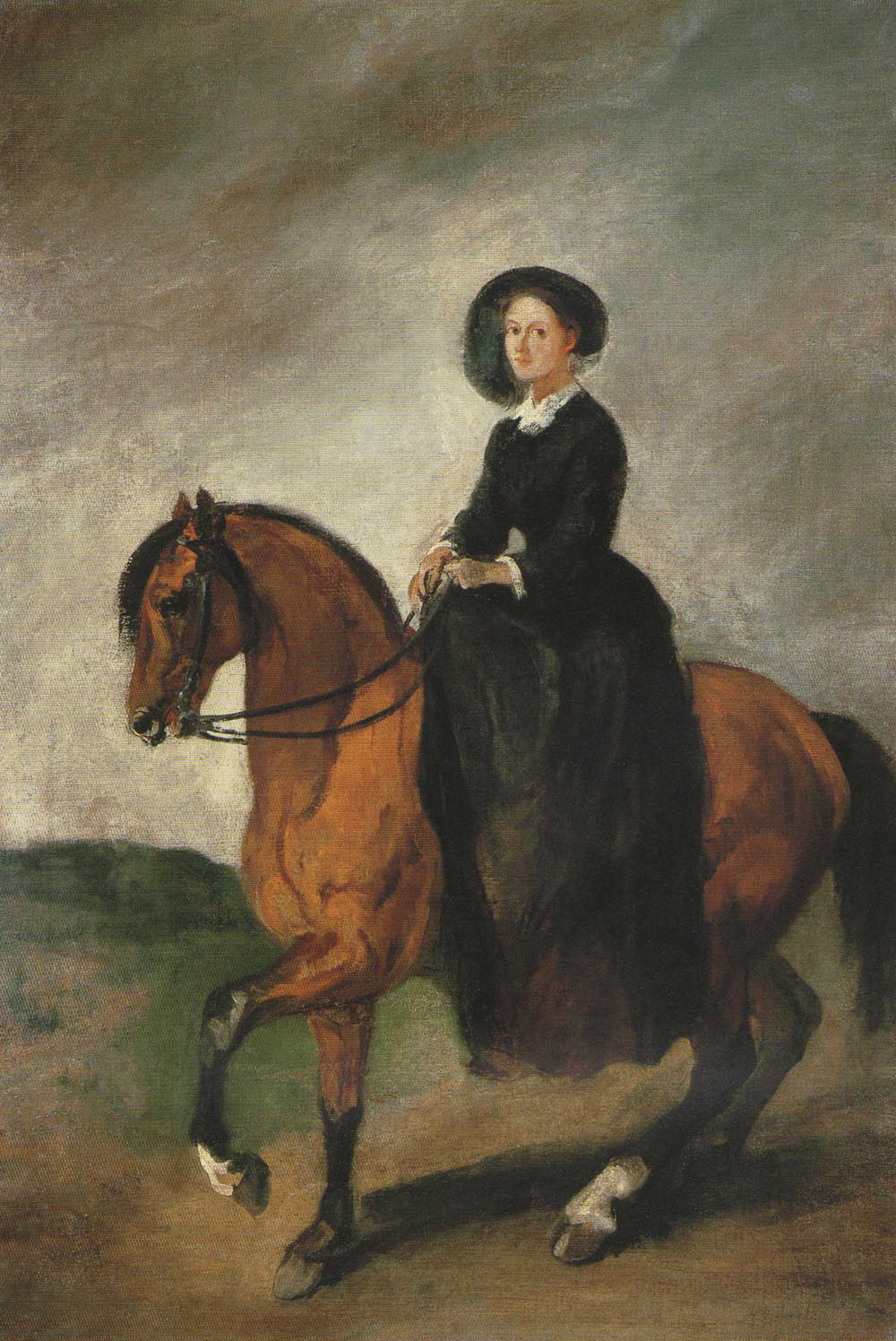 Portrait of the Artist's Daughter Celina on Horseback