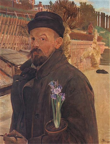 Self-Portrait with a Hyacinth