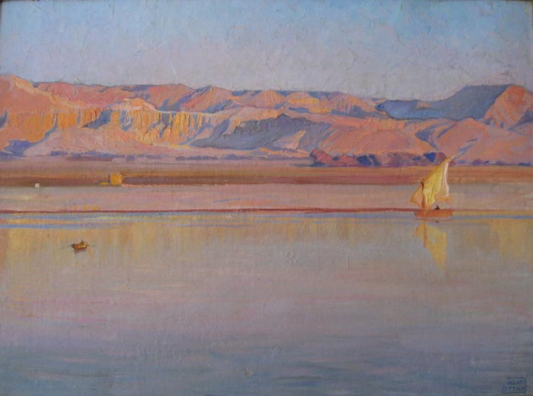 Thebes - Sunset over the Nile