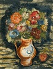Bouquet of Flowers in an Earthen Jug