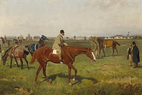 Horses on the Racecourse