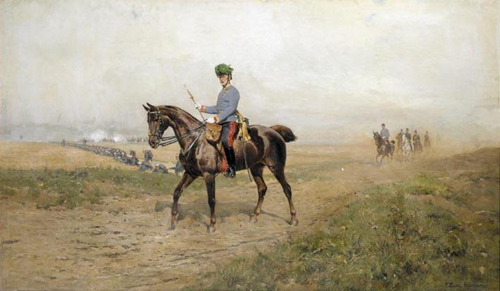 Portrait of Albrecht Archduke of Austria (1817-1895), Commander-in-Chief of the Austrian Army on Horseback (Albrecht Erzherzog von Österreich (1817-1895), Oberbefehlshaber des österreichischen Heeres zu Pferd)