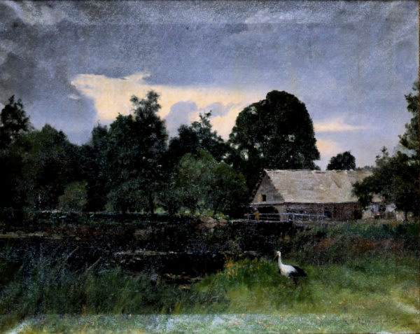 Landscape with a Stork