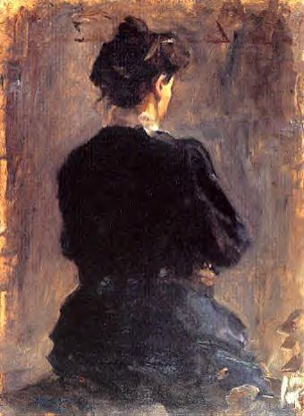 Woman in a Black Dress