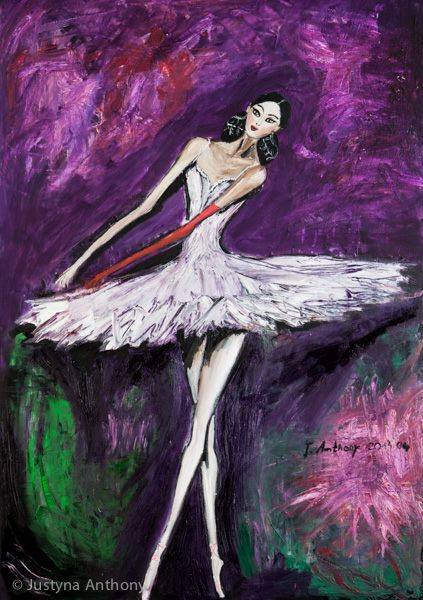 Ballerina with a Red Glove