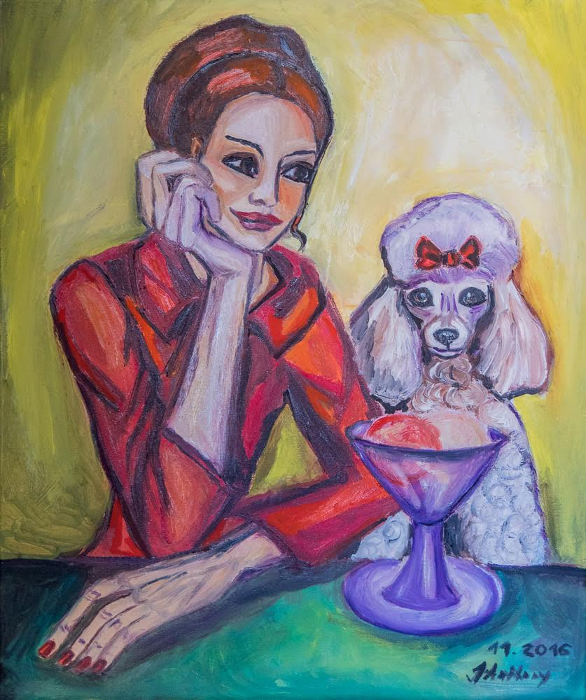 Lady with a Poodle
