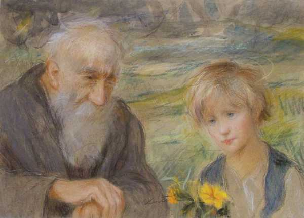 Girl and Old Man