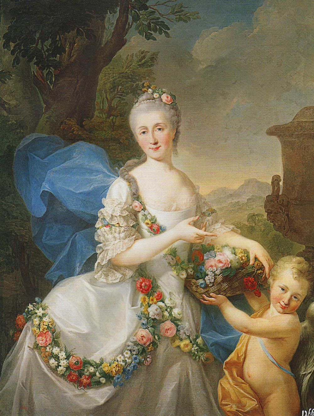 Portrait of Apolonia Poniatowska née Ustrzycka with Her Son Stanislaw