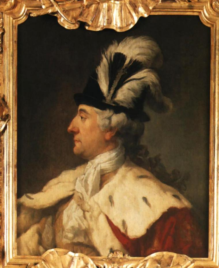 Portrait of King Stanislaus Augustus in a Plumed Hat