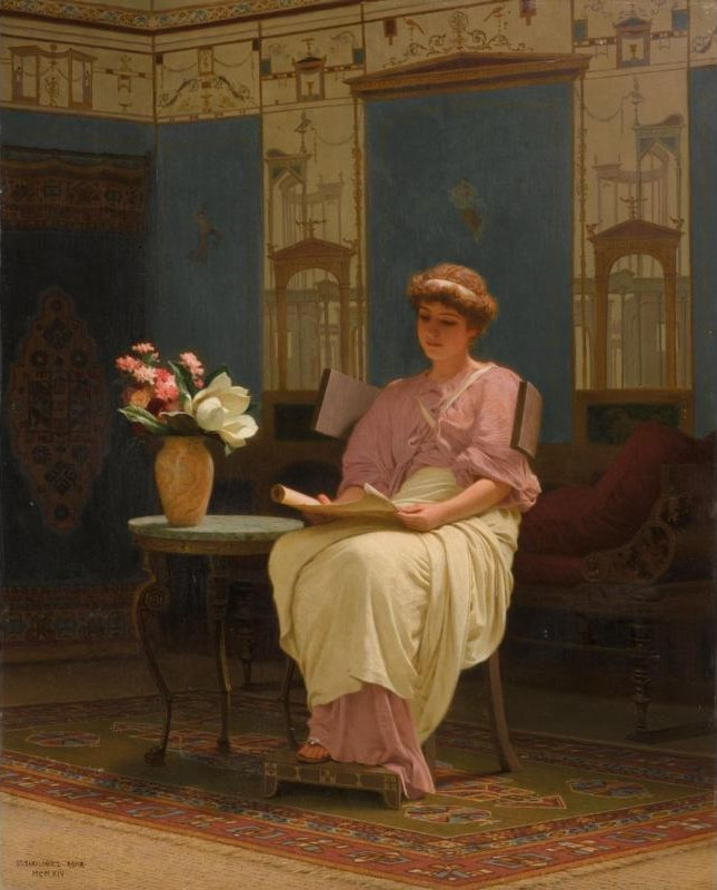 Lady Reading in a Pompeian Interior