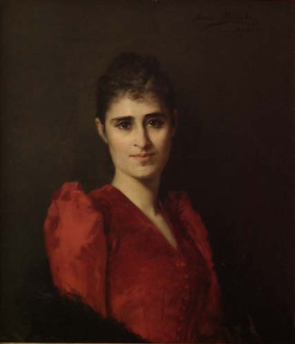 Portrait of a Woman in Red Dress
