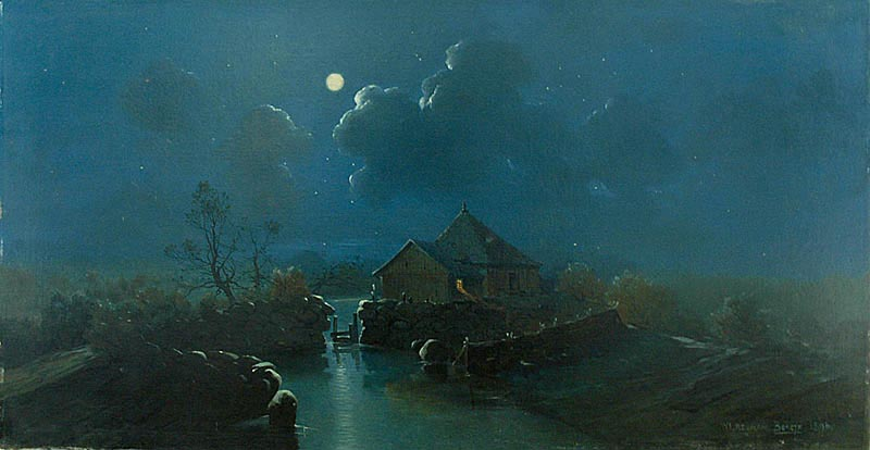 Nocturne with a Water Mill