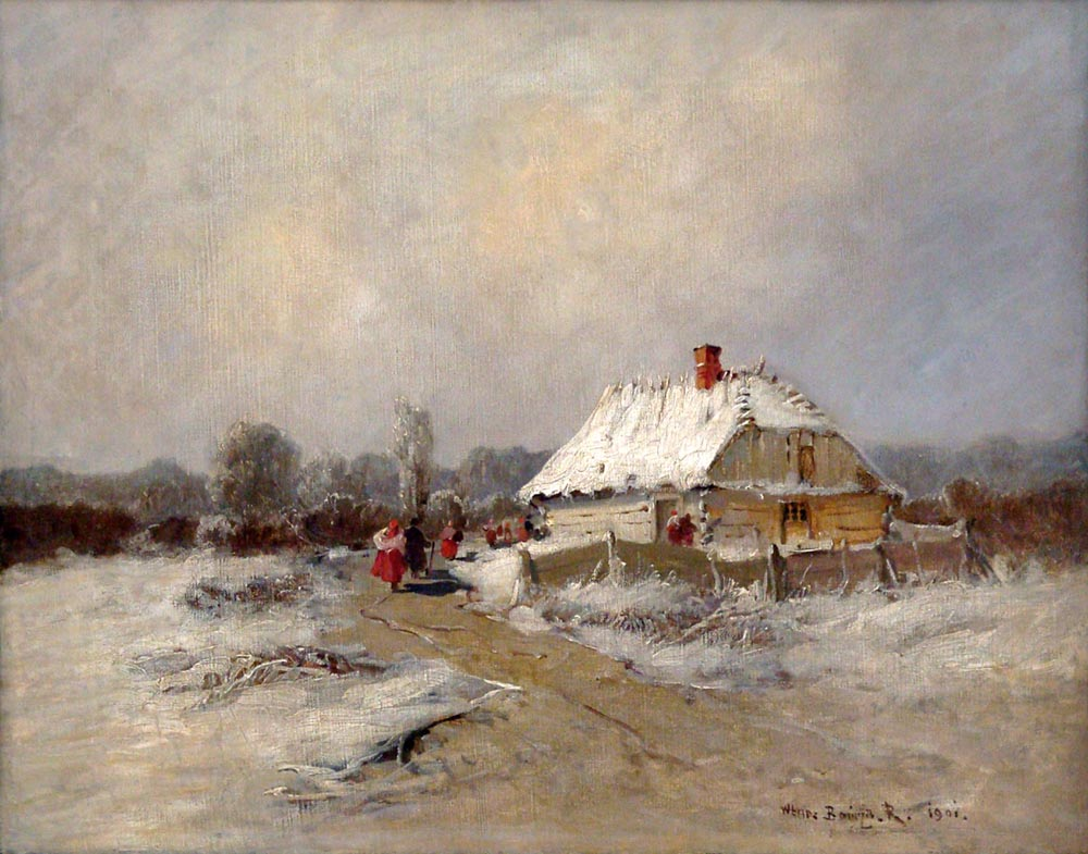 Return from Church in Winter