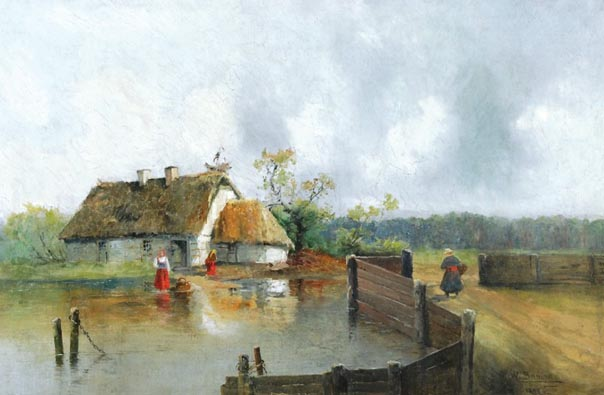 Cottage with Storks