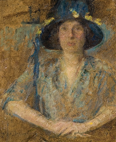 Lady in a Hat with Flowers
