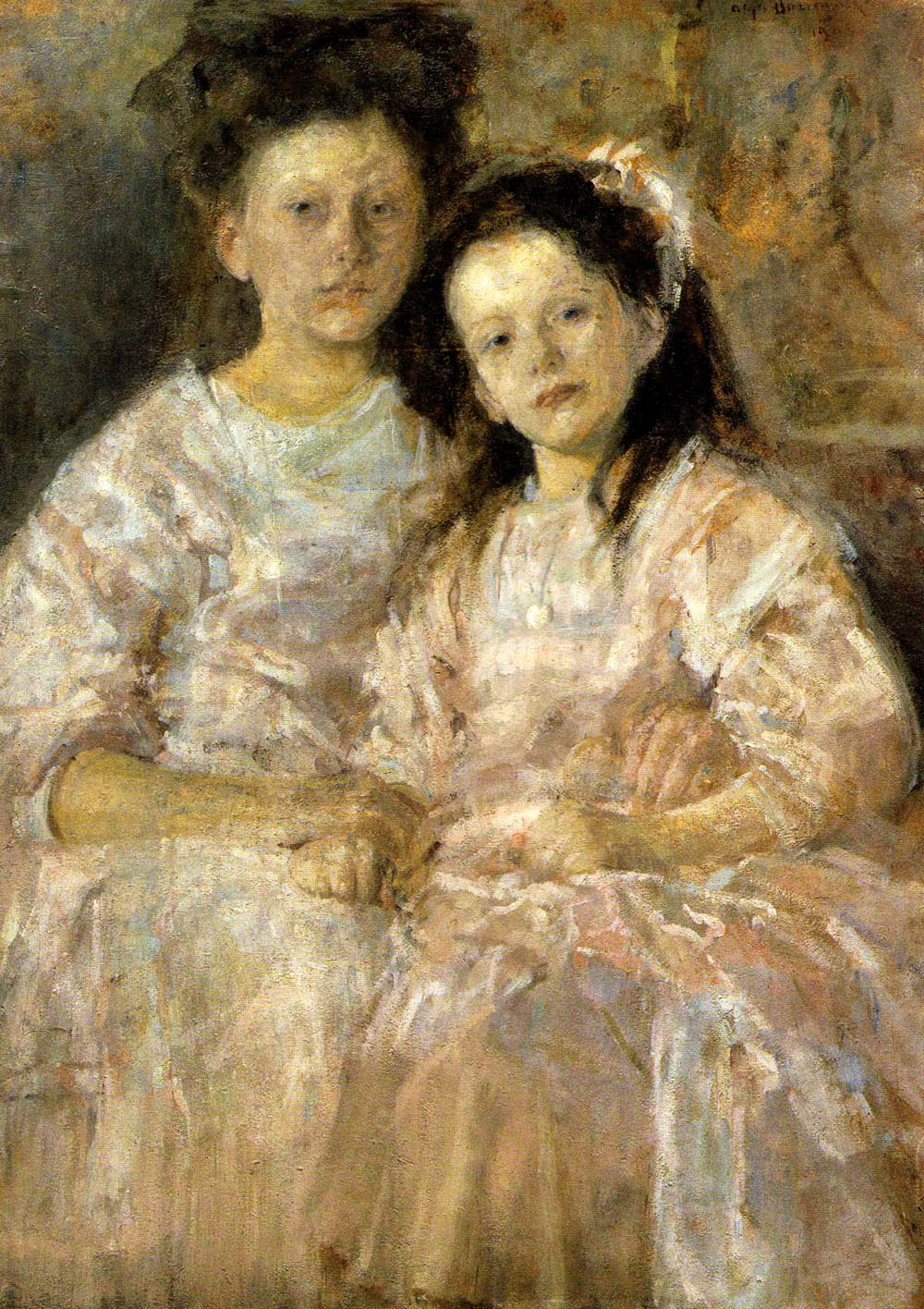 Portrait of Two Girls - Helena and Wladyslawa Chmielarczyk