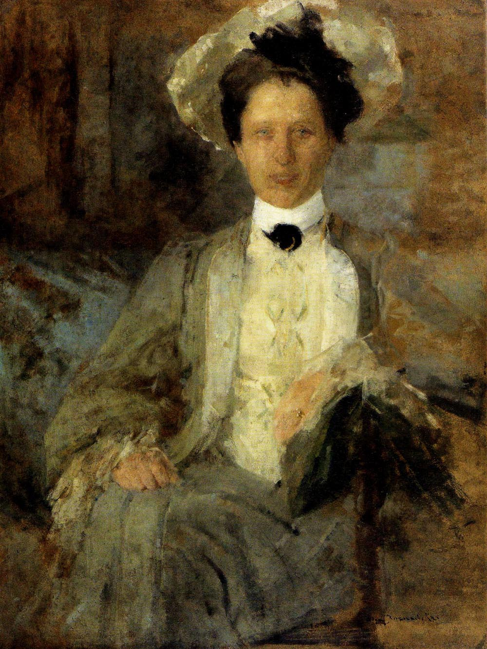 Portrait of a Woman in a White Hat