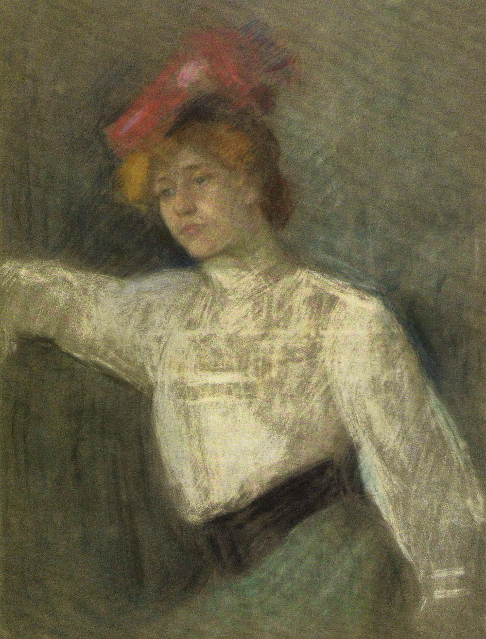 Portrait of a Woman in a Red Hat