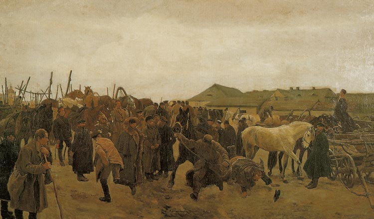 Market. Selling of the Horse