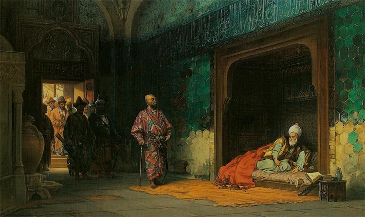 Sultan Beyazid as a Prisoner of Tamerlane (Timur)