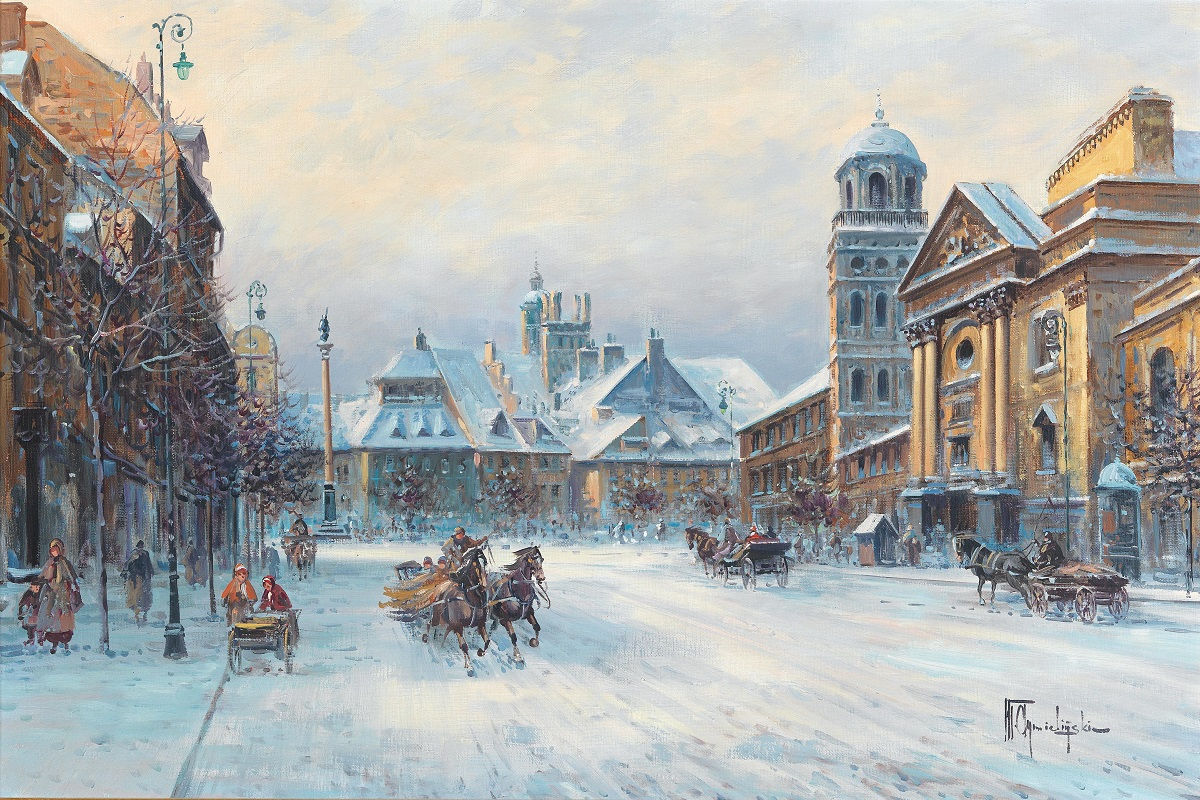 Scene of Warsaw in Winter