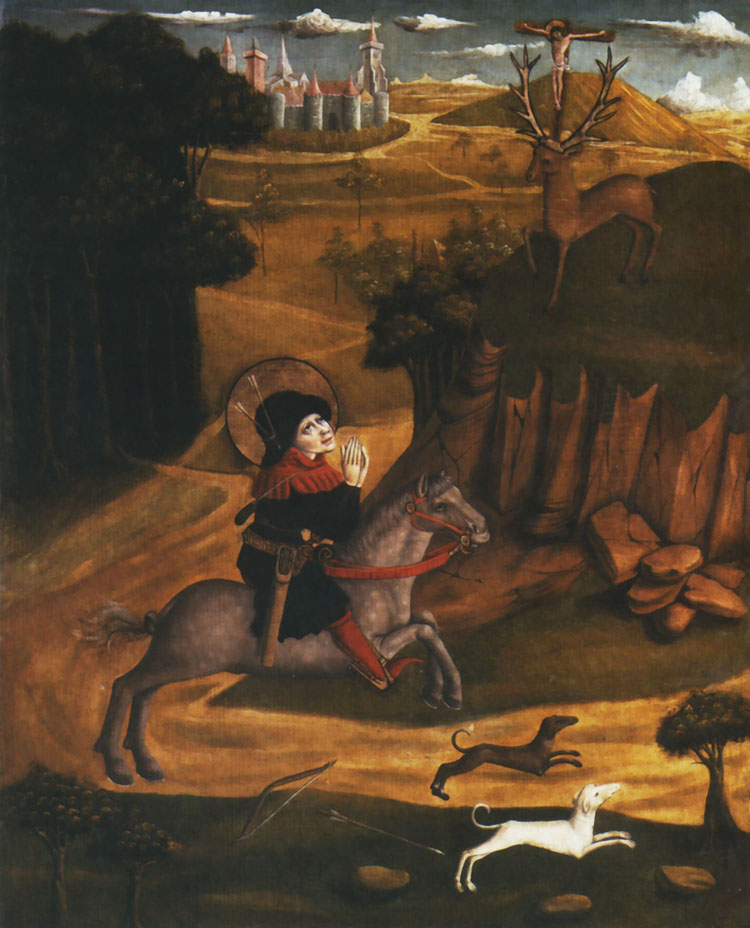 Św. Eustachy na łowach