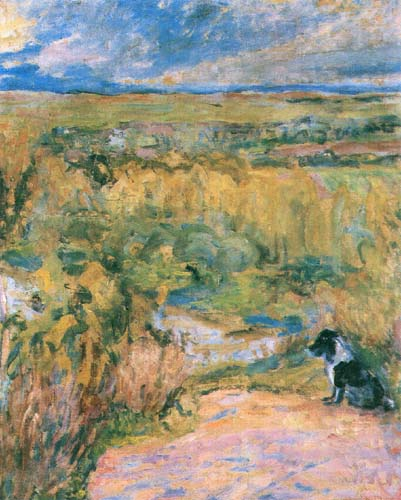 Slone. Landscape with a Dog