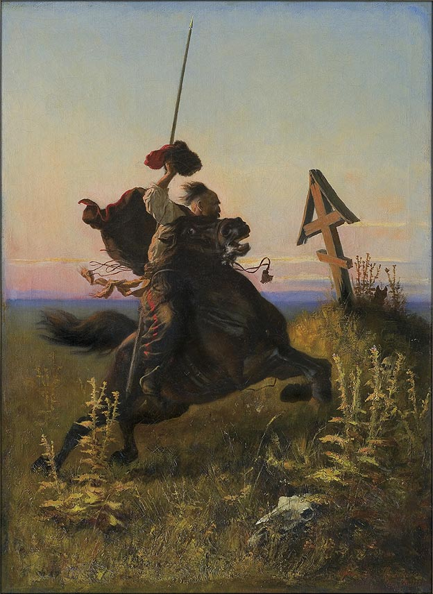 Cossack in the Steppe