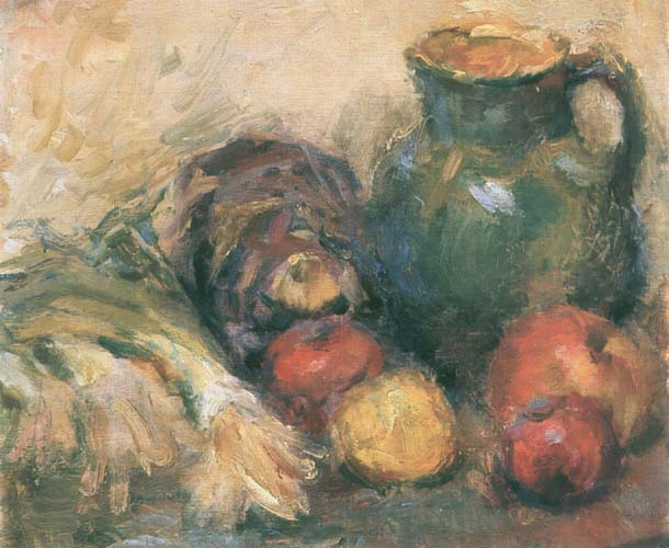 Still Life with Apples and a Jug