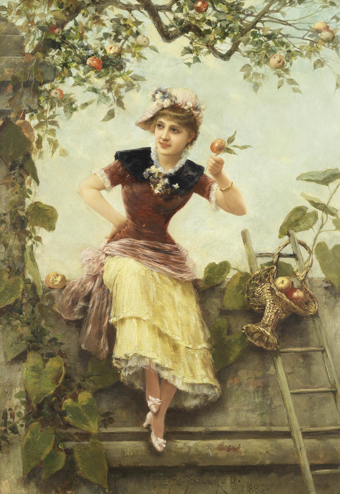 Girl by an Apple Tree