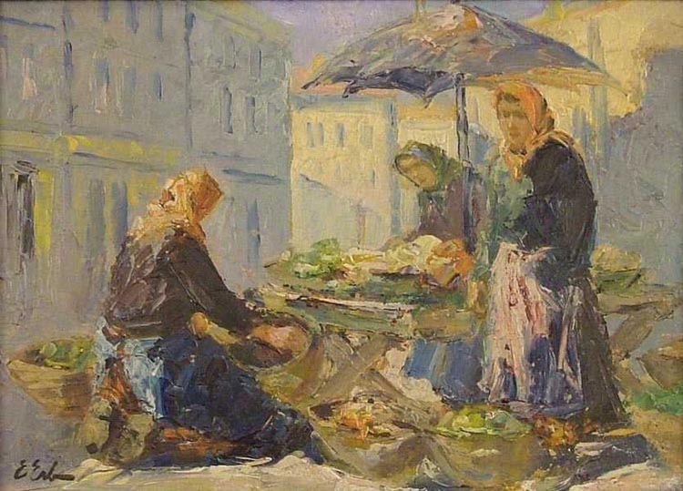 Women at a Stall