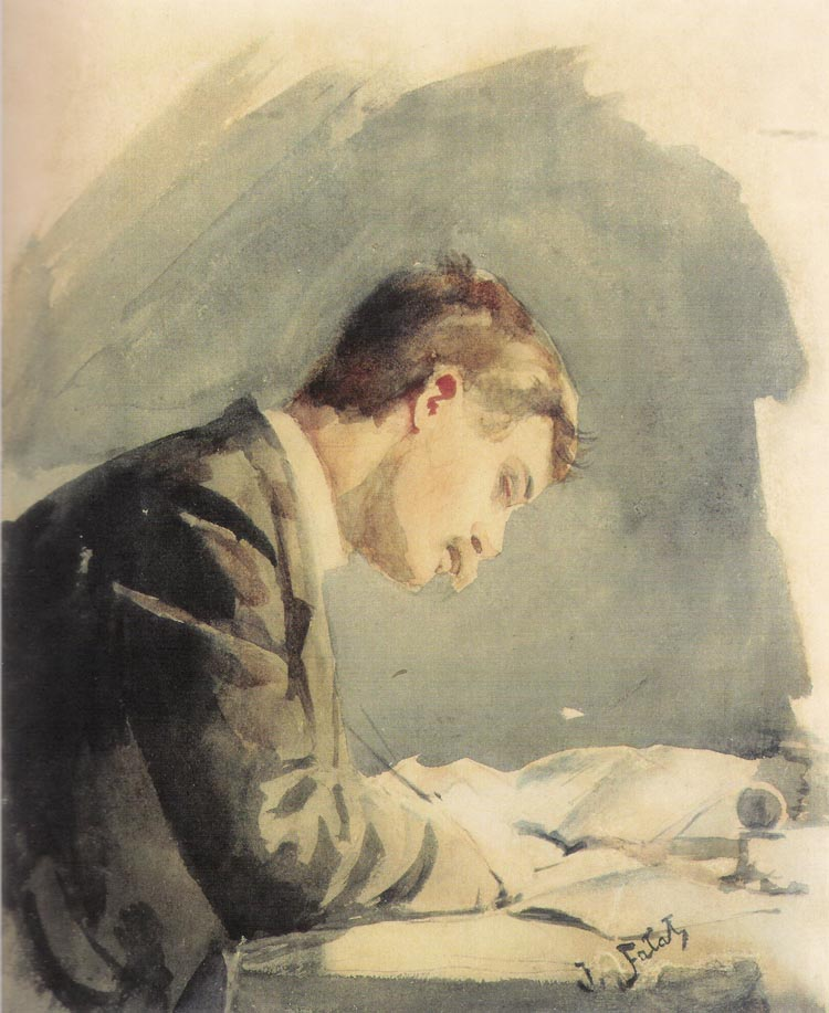 Self-Portrait at the Desk