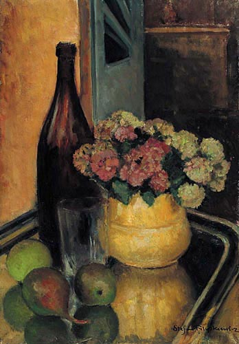 Still Life with Flowers and a Bottle