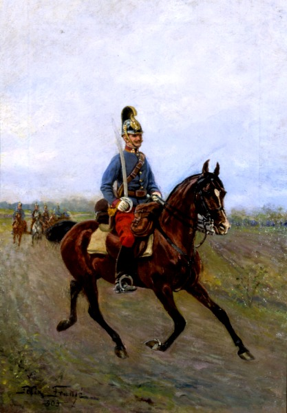 Austrian Dragoon on Horseback