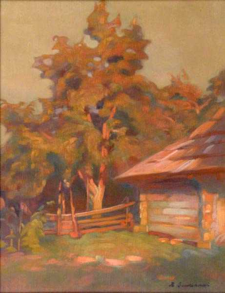Barn in Autumn Landscape