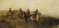Mounted Cossacks