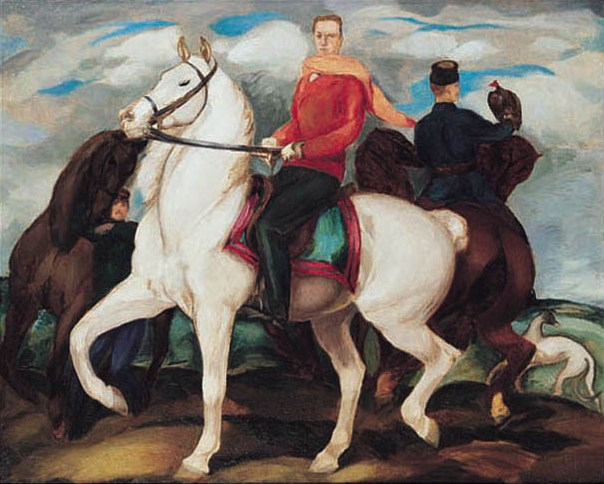 Self-Portrait on Horseback
