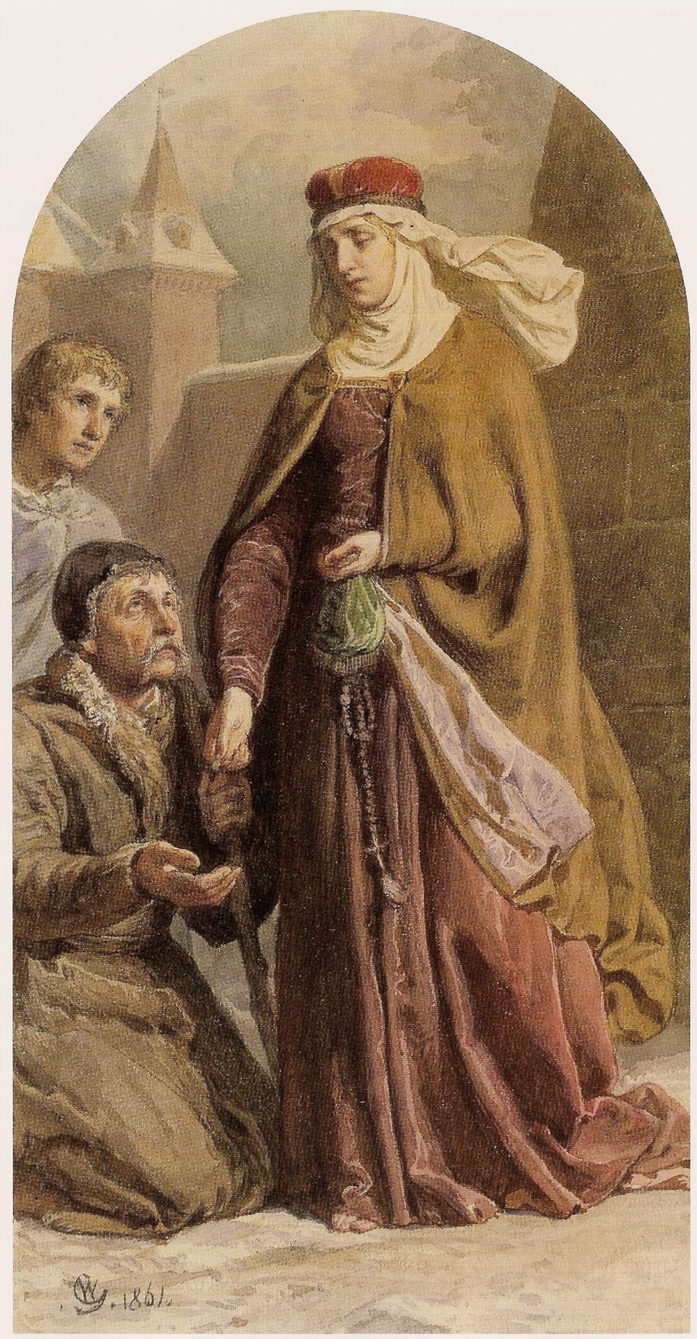 St. Hedwig of Andechs Giving Alms