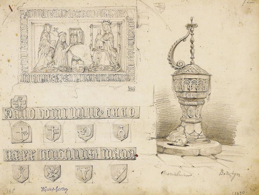 Drawings from St. Cross Church in Bodzentyn