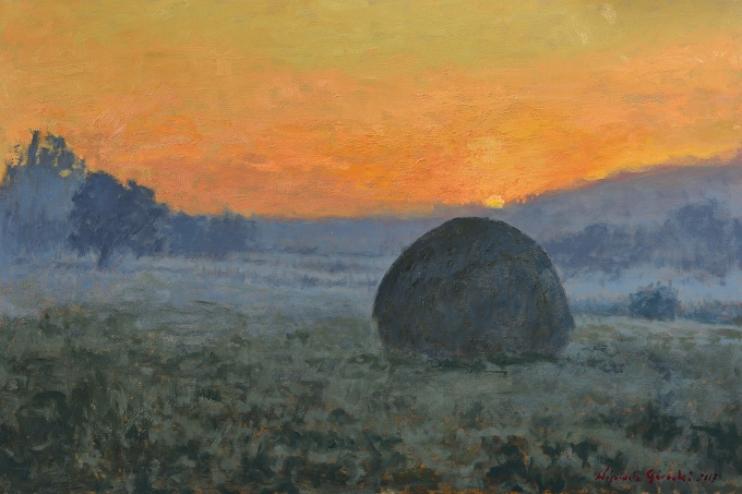 Haystack at Dawn