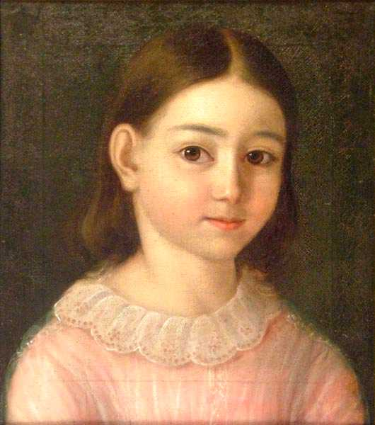 Portrait of a Girl in Pink Dress