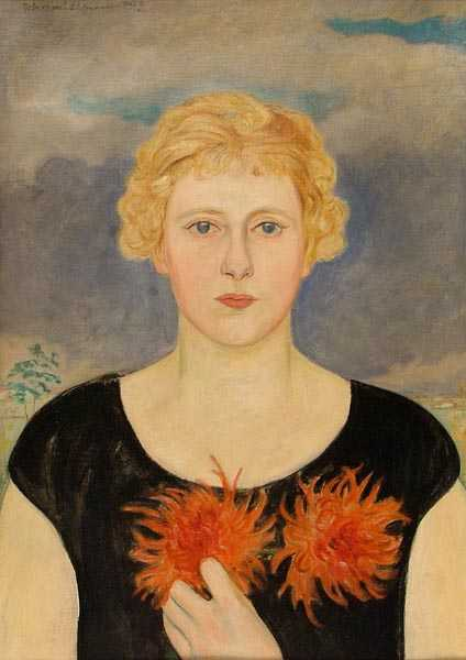 Portrait of a Girl with Asters