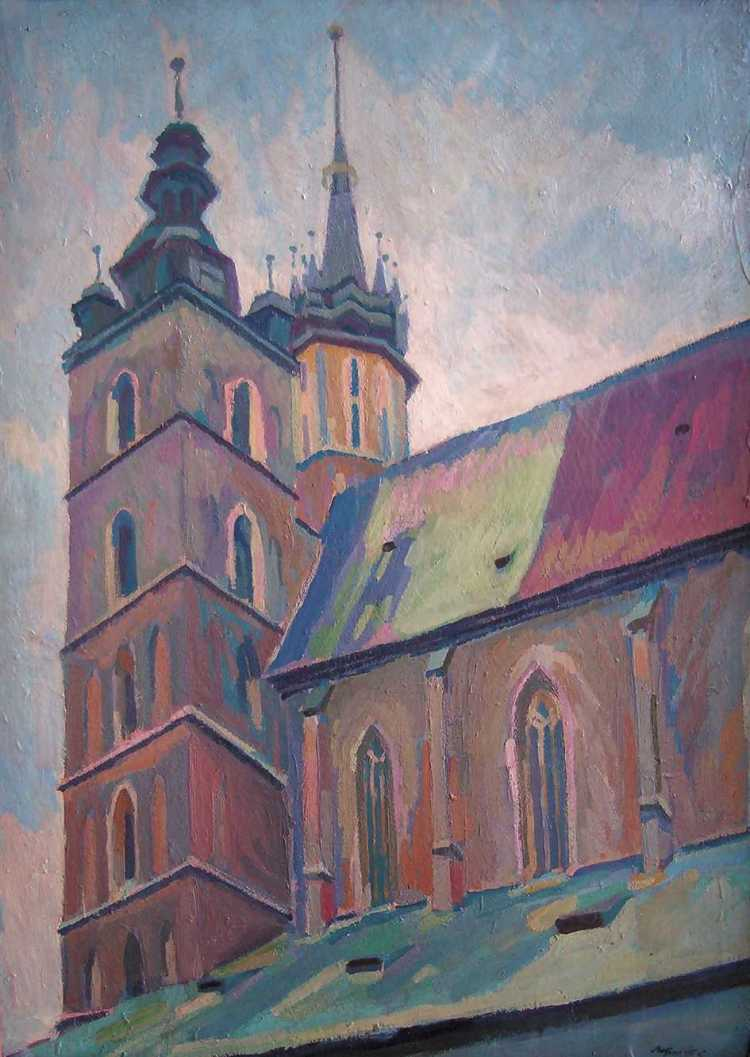 Two towers of St. Mary's Church in Cracow