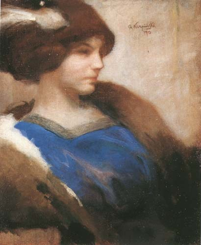 Portrait of a Lady in Hat
