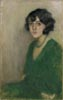 Portrait of a Woman in a Green Dress