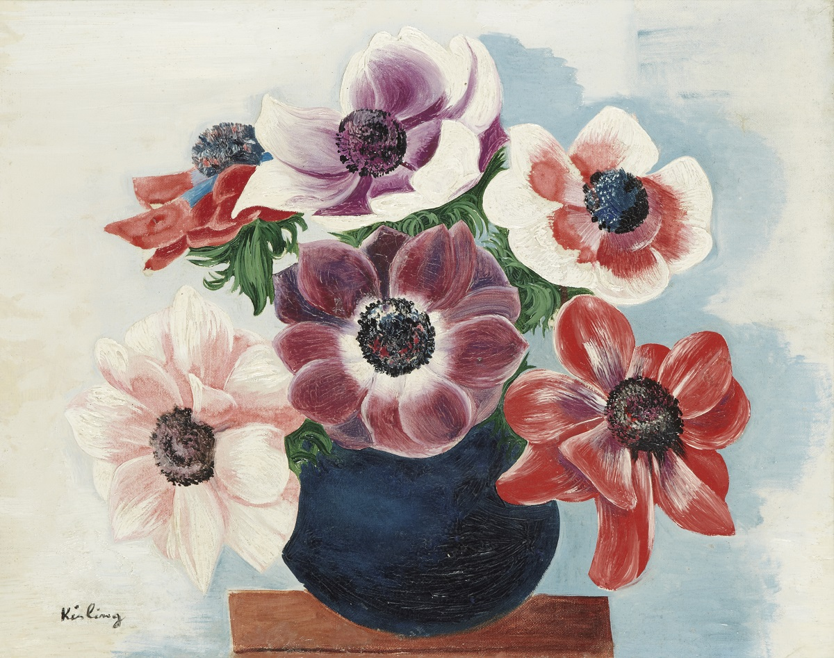 Bouquet of Anemones in a Vase
